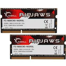 G.SKILL Ripjaws PC3L-12800 16GB (8GB×2) DDR3L 1600MHz CL9 Notebook Ram